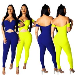 8fba47fea6e 2019 designer ladies explosion models Europe and the United States sexy  strapless solid color jumpsuit (N9106)