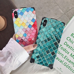 $enCountryForm.capitalKeyWord Australia - Emerald phone Case For iPhone X 8 7 Plus Xs Xr Xs Max Mobile shell Fish-scale pattern Non-slip Back Cover Shockproof Fashion Protective case