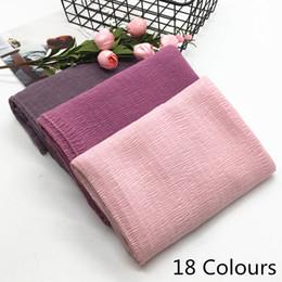 $enCountryForm.capitalKeyWord Australia - New design Super soft fashion women ripple fold solid color shawls viscose cotton Muslim hijab scarves pashmina scarf 10pcs lot