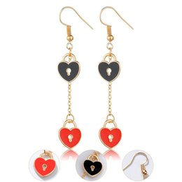 China New Fashion Long Tassel Love Heart Drop Earring For Women Vintage Cute Dangle Earring Wedding Jewelry Female Brincos cheap vintage mother pearl suppliers