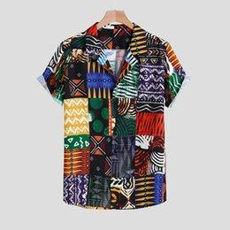 $enCountryForm.capitalKeyWord Australia - Mens shirt Camisa Casual Short Sleeve Shirt men Streetwear Abstract Printing Ethnic Style Loose Male Blouse Top Camisa masculina
