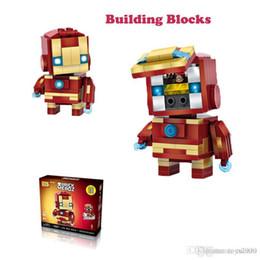 $enCountryForm.capitalKeyWord Australia - LOZ Mini Super Hero Blocks Batman Captain America Thor Iron Brick Heads Action Figure Assemblage Blocks Toys