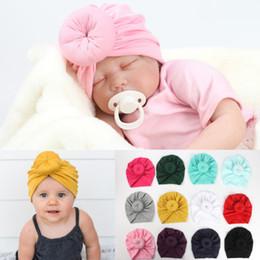 Toddler Skull Beanie Australia - Toddler Infant Baby Kids Cotton Turban Knotted Bunny Ear Hats Cap Skull Beanies Baby Girl Princess Head Wrap Headband Beanies Caps