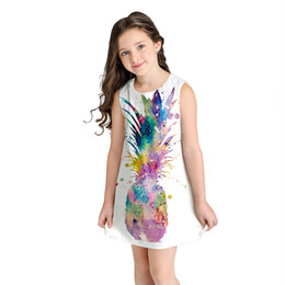 Chinese  Teen Toddler Kid Girl Summer Sleeveless 3D Print Cartoon Dresses Casual Clothes cute dress for girls 3 years print manufacturers