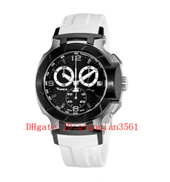 luxury watches t race Australia - T048.417.27.057.05 Men Luxury Casual Fashion Rubber Band Military Sport Quartz Chronograph Watch T048 T-Sport T-Race