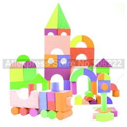 Metal Building Blocks Australia - (52 pieces set) Kids Bubble Toy Non-toxic EVA Foam Building Blocks Educational Toys for Children Birthday Gifts
