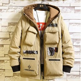 Turn coaT online shopping - Big Pocket Military Army Jacket Winter For Men Turn Down Collar Fashion Hip Hop Jackets Streetwear Loose Parka Coat