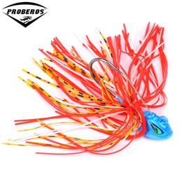 Fishing Lure Jig Tackle Australia - bait 1PC Squid Jigs Spinner Fishing Lures 10 Colors Beard Tail Bass Baits with Big Single Hooks Fishing Tackle DW-360