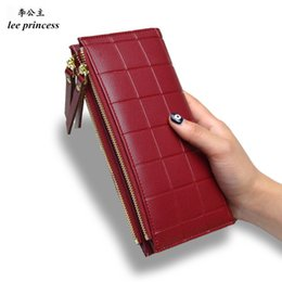 Discount lees fashion - Lee Princess Wallet for Girls Phone With Double Zipper Coin Purse Holders Money Bag Ladies Purse Women Slim Wallets Fema