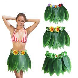 $enCountryForm.capitalKeyWord Australia - Hawaiian Grass Skirts Artificial Silk Green Leaves Hula Skirt Costume Patry Decorations Children Kids & Adult Hula Show Skirt Dance Dress