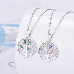 $enCountryForm.capitalKeyWord Australia - 925 Sterling Silver Family Tree Charms Cubic Zircon Pendant Beads Fit Pandora Bracelet&Necklace For Women Jewelry