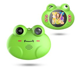 $enCountryForm.capitalKeyWord Australia - Kids Camera Toys for Boys,Gifts Rechargeable Shockproof Cute Cartoon Frog Design Mini Camera for Girls Anti-Shake Children digital Video