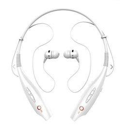 Iphone Stereo Player Australia - For iPhone 7 6 Plus Stereo Bluetooth Headphone Sport Headset Neck Hanging Wireless In-Ear Earphone MP3 Player