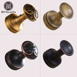 Wholesale DIY Mini Coat Hanger Hook Wall Mounted Brass Towel Hooks Antique Brass Oil Rubbed Bronze Finished pc