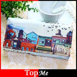 house bags cartoon 2019 - Women Wallets Handbags Soft Pu Leather Long Coin Purse House Pattern Moneybags Lady Purses Clutch Wallet Cards Id Holder