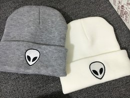 $enCountryForm.capitalKeyWord Australia - 2018 cotton Alien pattern Thicken knitted hat winter warm hat Skullies cap beanie hat for men and women 29