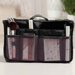$enCountryForm.capitalKeyWord Australia - Organizer Insert bags Women Nylon Travel Insert Organizer Handbags Purse Large liner Lady Makeup Cosmetic bags Cheap Female Tote