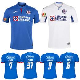 Venta al por mayor 19 20 camiseta de fútbol CRUZ AZUL Marcone 2019 2020  Caute Caraglio Montoya Caraglio Méndez Mena Hernández fútbol mexico leangue a9a8da4fe7502