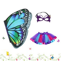 $enCountryForm.capitalKeyWord Canada - D.Q.Z Kids Fairy Cozy Butterfly Wings Dress Up Costume Cape Skirt Tutu Mask Girls Shawl Princess Cosplay Halloween Party Favors