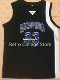 basketball jersey size 4xl NZ - #23 Derrick Rose Tigers White Blue Top Basketball Jersey all size Embroidery Stitched Customize any name and name XS-6XL vest Jerseys NCAA