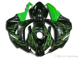 $enCountryForm.capitalKeyWord UK - Brand new Fairings for Honda CBR1000RR 2006 2007 black green flames Injection molding fairing kit CBR 1000 RR 06 07 VC29
