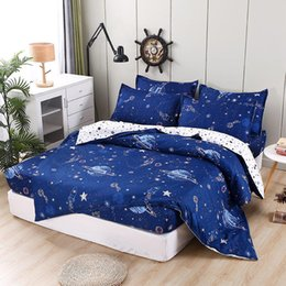 Wholesale New Printing Bedding Set Fitted Sheet Mattress Cover Bed Linen With Elastic Band Mattress Protector Pad Bed set
