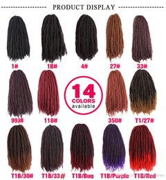 marley hair for braiding 2019 - Hot! Women's Fashion 18inch Synthetic Marley braids with Ombre red brown and black crochet braiding hair extensions