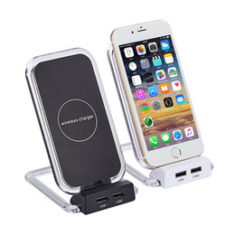 wholesale x stands 2019 - Innovative Wireless Charger For iPhone 8 Plus X XR XS Max Charging Dock Stand For Samsung S9 S8+ Smartphone Chargers Bra
