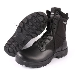 Train Works Australia - S Quality Fashion Men's Boots Black Combat Tactical Male Boot Special Force Army Training Shoes Work and Safety Leather Shoes