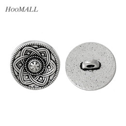 $enCountryForm.capitalKeyWord Australia - button jersey Hoomall Brand 30PCs Hollow Flower Decorative Metal Buttons 15mm Silver Tone Fit Sewing Scrapbooking Sewing Accessories