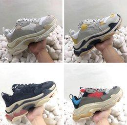 Cheap Leisure Shoes For Men Australia - 2019 Limited Cheap Sale Triple S Casual ShoesDad Shoe Triple S Sneakers for Men Women Unveils Trainers Leisure Retro Training Old Grandpa
