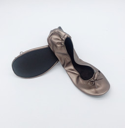 Foldable Flats Wholesale Australia - Top Sale Good quality sell well girls school foldable flat shoes in low price