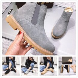women shoes boots martin Australia - Vintage Women Boots High Quality Warm Pigskin Fur Boots For Female Thick Heel Snow Boot Classic Australia Ug Martin Boot Ankle Shoes C101401