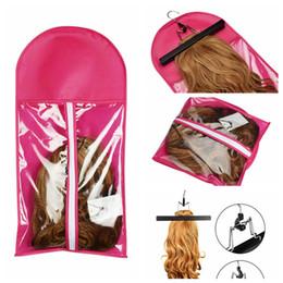 Haufen Perücke Ständer 1pc beweglicher Haar-Verlängerungen Paket Anzug Fall Wig-Speicher-Beutel Kleidung Halter für Haar-einschlag Extensions Kleidung Einzelteile St ... im Angebot