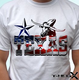 $enCountryForm.capitalKeyWord NZ - Texas - white t shirt top USA flag design - mens womens kids baby sizes summer o neck tee, free shipping cheap tee