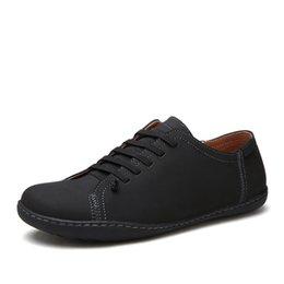 1188afe1c Hot Sale Mens Shoes Quality Split Leather Loafers Men 2018 Fashion Handmade Men's  Flats New Spring Slip on Espadrilles XX-495-8