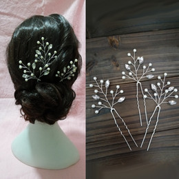 $enCountryForm.capitalKeyWord Australia - Bridal Wedding Headpiece Baby Breath Pearl Crystal Hair Pins Wedding Pearl Pin Floral Bridal Jewelry Bridesmaid Accessories Flower Hair Pins