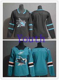$enCountryForm.capitalKeyWord Canada - Cheapest Youth San Jose Sharks Blank Black Alternate Top Quality Stitched Ice Hockey Jersey Teal Home Boys NHL Jerseys