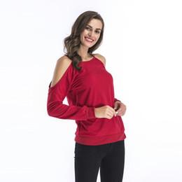 963d41865c442 Sheer Long Sleeve Off Shoulder Shirt UK - New Spring Autumn 2019 Women T- shirts