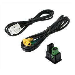 RCD510 + 310 + 300 + RNS315 AUX Cable de conexión USB PARA VW MK6 Golf Jetta CC PASSAT B6 B7 en venta