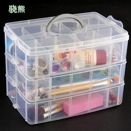 Toy Display Cases Australia - 30 Grids Clear Plastic Storage Box For Toys Rings Jewelry Display Organizer Makeup Case Craft Holder Container porta