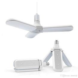 Cool umbrellas online shopping - 36 W E27 LED Bulb SMD2835 leds Super Bright Foldable Fan Blade Angle Adjustable Ceiling Lamp Home Energy Saving Lights