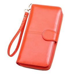 $enCountryForm.capitalKeyWord UK - The new oil wax leather wallet is the outermost layer of skin restoring ancient ways mobile phone bag long zipper bag #023