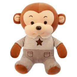 Discount monkey beds - Little MONKEY Plush Toy girl birthday present bed pillow lovely girl doll Korean doll