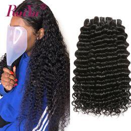 $enCountryForm.capitalKeyWord Australia - Brazilian Hair Weave Bundles Deep Wave Peruvian Malaysian Remy Human Hair Bundles 10-26 Inch Curly Double Wefts Hair Extension Vendors