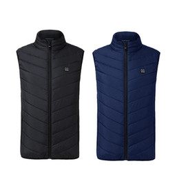 Discount security men - Outdoor Sports Fishing Graphene Electric Heated Vest USB Security Intelligent Constant Temperature Heating Vest