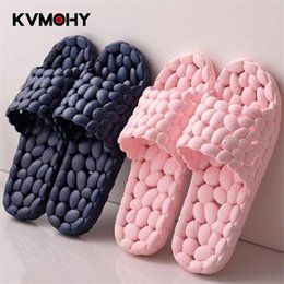 Discount slippers flat feet - Shoes Woman Slippers Fashion Mules Men Women Couple Beach Shoes Home Summer Zapatos Mujer Flip Flops Hollow Foot Massage