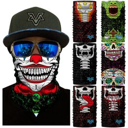 $enCountryForm.capitalKeyWord Australia - 3D Joker Motorcycle Seamless Bandana Cosplay Zombie Neck Gaiter Face Mask Sports Cycling Hiking Scarves Headband Tube Neck Buffe