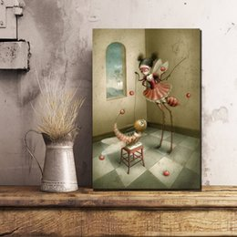poster color paintings NZ - Color Pupila Nicoletta Ceccoli Pop Surrealism Canvas Painting Wall Picture Poster And Print Decorative Home Decor