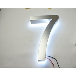 $enCountryForm.capitalKeyWord NZ - Brushed Stainless Steel LED Lighting Modern House Numbers